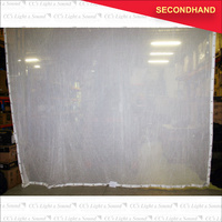 4.5M x 4.5M White Sharkstooth Gauze (secondhand)