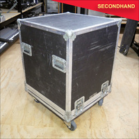 7RU Rack with Drawer in Roadcase on Wheels _ 108 (secondhand)