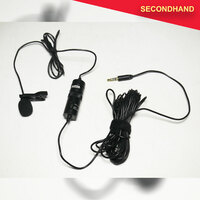 Boya M1 Lavalier Microphone for Smartphone or Camera with Tie Clip, Windsock & Battery (secondhand)