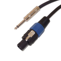 UXL SJS1515 15M Speakon to 6.35mm TS Jack Speaker Cable
