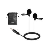 Boya LM300 Dual Lavalier microphone for DSLR Camera, Camcorders and Wireless Systems