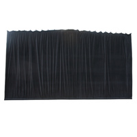 BravoPro 84ABK 8M x 4M Black Cotton Velvet Curtain - Gathered