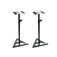 BravoPro SS015 Black Monitor Speaker Floor Stand - Pair