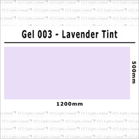 Clear Color 003 Filter Sheet - Lavender Tint