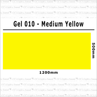 Clear Color 010 Filter Sheet - Medium Yellow