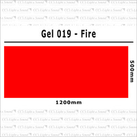 Clear Color 019 Filter Sheet - Fire