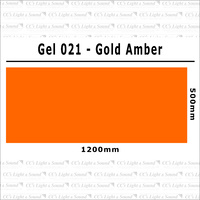 Clear Color 021 Filter Sheet - Gold Amber