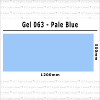 Clear Color 063 Filter Sheet - Pale Blue