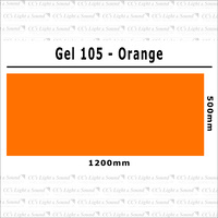 Clear Color 105 Filter Sheet - Orange