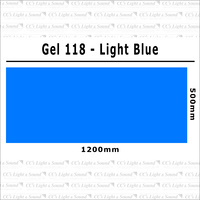 Clear Color 118 Filter Sheet - Light Blue