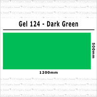 Clear Color 124 Filter Sheet - Dark Green