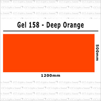 Clear Color 158 Filter Sheet - Deep Orange