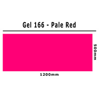 Clear Color 166 Filter Sheet - Pale Red - 1200mm x 500mm