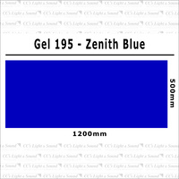 Clear Color 195 Filter Sheet - Zenith Blue