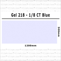 Clear Color 218 Filter Sheet - 1/8 C T Blue