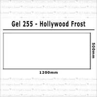Clear Color 255 Filter Sheet - Hollywood Frost
