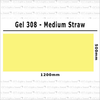 Clear Color 308 Filter Sheet - Medium Straw