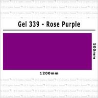 Clear Color 339 Filter Sheet - Rose Purple