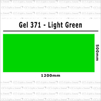 Clear Color 371 Filter Sheet - Light Green