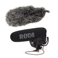 Rode VideoMic Pro-R with Rycote Lyre Shockmount and DeadCat