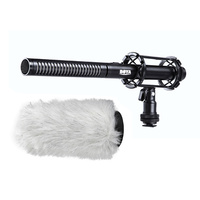 Boya PVM1000 Pro Shotgun Microphone with Shock Mount and Pro Fluffy