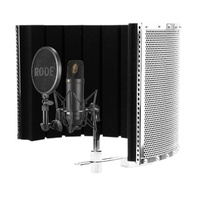 Rode NT1 Studio Condenser Microphone with Alctron PF32 MkII Isolation Screen