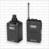 Boya WM6 UHF Wireless Microphone System with WM8 Plug-On Transmitter