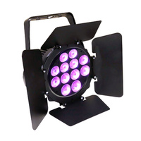 LED HEX PAR 12,  12 x 10W Hex-Colour RGBAW-UV Wash with Barndoor