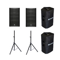 Pair of PreSonus ULT12 1300w 12-inch & Horn Speakers with FREE Covers & Stands