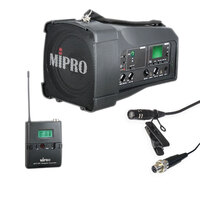 Mipro MA100SB Portable Battery PA with Bluetooth, Beltpack Transmitter & Lapel Mic