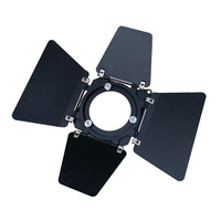 Barndoor with Square 170mm Mounting - Black