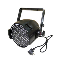 LED Studio-Par RGBW with 54 x 3w LED's Double Yoke and Piggy-Back Plug