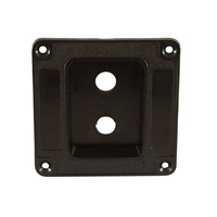 Penn M1500 Recessed Plastic Dish for 2x Jack Sockets - Black