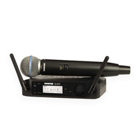 Shure GLXD24B58 Wireless Microphone System with Beta58A Handheld Microphone