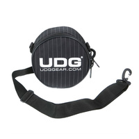 UDG Headphone Carry Bag - Black with Grey Pin Stripe