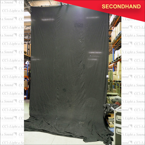 7m x 4m Black Cotton Drape - no fixings (secondhand)