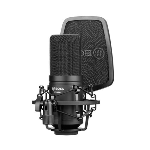Boya M800 Large Diaphragm Condenser Microphone with Shock Mount & Pop Shield
