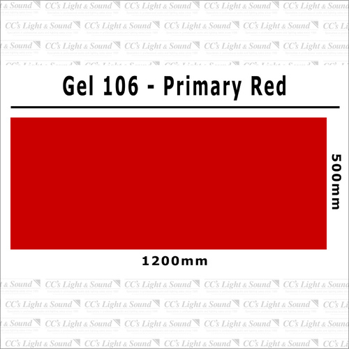 Clear Color 106 Filter Sheet - Primary Red
