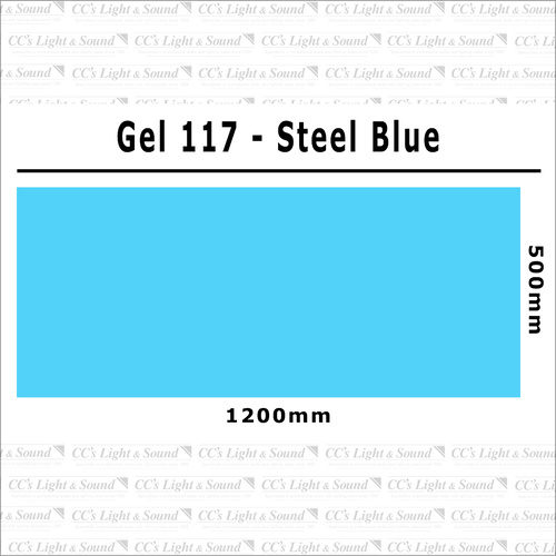 Clear Color 117 Filter Sheet - Steel Blue