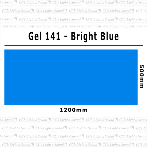 Clear Color 141 Filter Sheet - Bright Blue