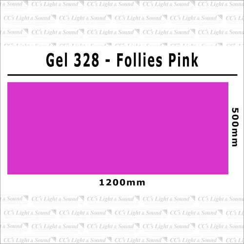 Clear Color 328 Filter Sheet - Follies Pink