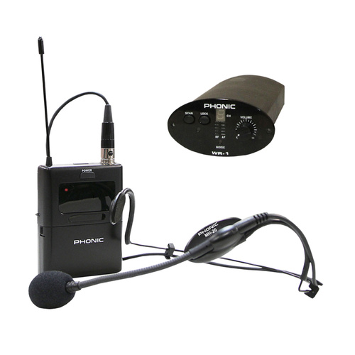 Wireless Headset Microphone System for Phonic Safari Portable Audio Systems